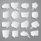 Set of speech bubbles — Stok Vektör