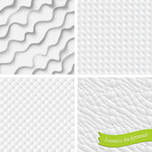 Set of four vector backgrounds, seamless — Stock Vector