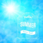 Summer poster, vector background — Stock Vector