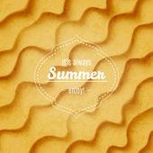 Summer sandy background — Stock Vector