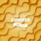 Summer sandy background — Stock Vector