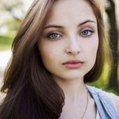 Gorgeous girl with big eyes — Stock Photo