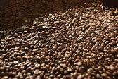 Brązowy kawy, tekstura tło — Zdjęcie stockowe