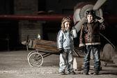 Young aviators — Stock Photo