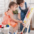 Little artists — Stock Photo