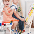 Little artists — Stock Photo #39220301