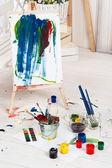 Konstnärens workshop — Stockfoto