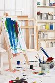 Artist's workshop — Stock Photo