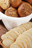 Heap of different bread — Stock Photo