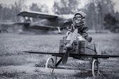 Jovem piloto — Fotografia Stock
