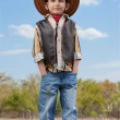Boy in cowboy suit — Stock Photo #43966691