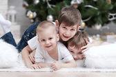 Three little boys having fun — Stock Photo