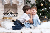 Two little boys having fun — Stock Photo