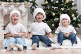 Three little boys having fun — Stock Photo
