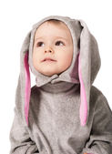 Child in suit of hare — Stock Photo