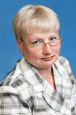 Middle aged woman in glasses — Stock Photo