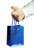 The businessman with a gift — Stock Photo