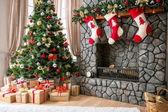 Weihnachten-interieur — Stockfoto