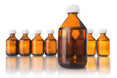 Medical bottles in the row — Stock Photo