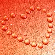 Heart Shaped Water Drops — Stock Photo