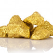 Gold nuggets — Stock Photo #43979099