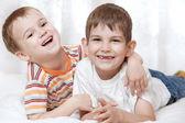 Happy young boys — Stock Photo