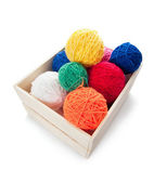 Clews the yarn for knitting — Stock Photo