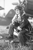 Young aviator — Stock Photo