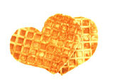 Wafers in form heart — Photo