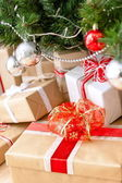 Boxes of presents — Stock Photo