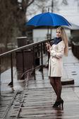 Girl with umbrella — Stock Photo