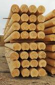 Construcciones de tronco cilindrados — Foto de Stock