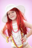 Girl fashionista — Stock Photo