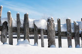 Fence in the snow — Stock Photo