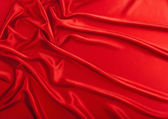 Red satiny textile — Stock Photo