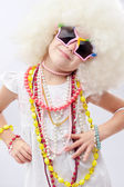 Girl fashionista — Stock Photo