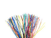 Multicolored   computer cables — Stock Photo