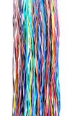 Çok renkli bilgisayar kabloları — Stok fotoğraf