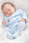 Portrait of sleeping baby — Stockfoto