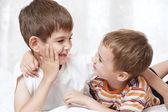 Portrait of two boys — Stock Photo