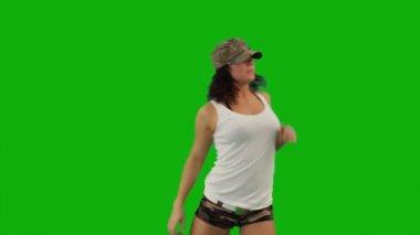 Militare ragazza che balla hip-hop — Video Stock