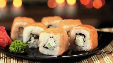 Delicious sushi — Stock Video