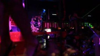Festa do clube de noite — Vídeo Stock