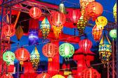 Close-up coloridas internacionales linternas — Foto de Stock