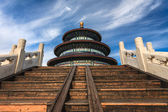 Temple of Heaven against blue sky — Stock Photo
