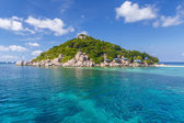 Crystal Clear Water at Tropical Island — Foto Stock