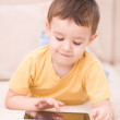 Boy using tablet — Stock Photo #38829745
