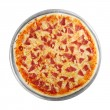 Pizza on the disc (white background) — Stock Photo #39313851