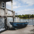 Stock Photo: Beautiful boat in Central Yacht club 2013