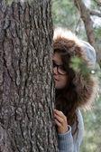 Portrait of girl into the wild — Stock Photo